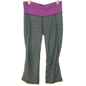 Lululemon Groove Crops Capri Coal/Purple Size 4